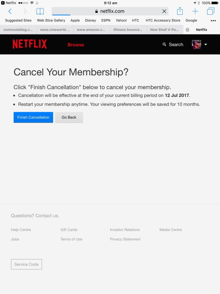 How to cancel Netflix on your iPad CustomerServiceGuru.co.uk