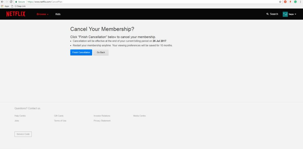 How to cancel your Netflix memberships CustomerServiceGuru.co.uk